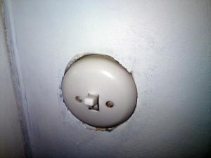 Infälld strömbrytare
